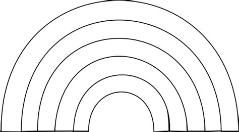 Rainbow Black And White Clipart black and white rainbow clip at clker vector