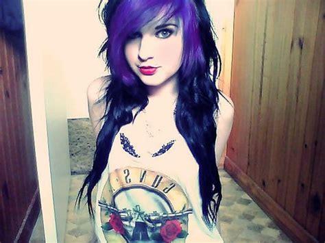 black n purple hair cabelos coloridos perfeitos aroma de beleza