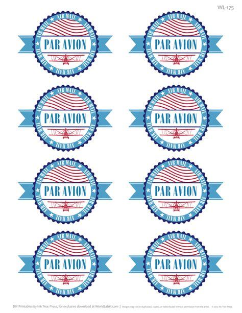 par avion international address mailing label set