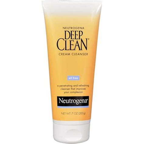 deep clean neutrogena deep clean oil free cream cleanser reviews