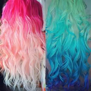 ombre colored hair extensions pastel and bright hair colors inspirations from