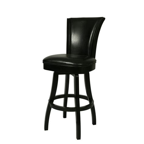 bar stools black leather glenwood 30 quot swivel bar stool in black qlgl219227865