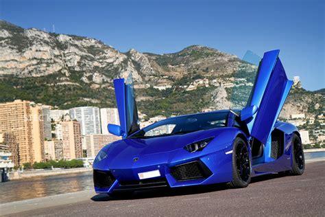 Lamborghini Aventador On The Road Blue Lamborghini Aventador On The Road Wallpap 2187