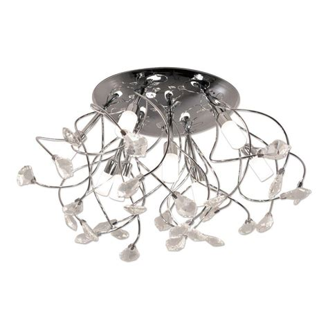 Branch Light Fixture Bazz 9 Light Chrome Ceiling Fixture With Branches And Glass C13509ch The Home Depot