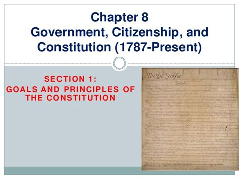 government section 8 preamble principles