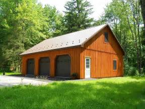 Garages And Barns custom pole building garage precise buildings
