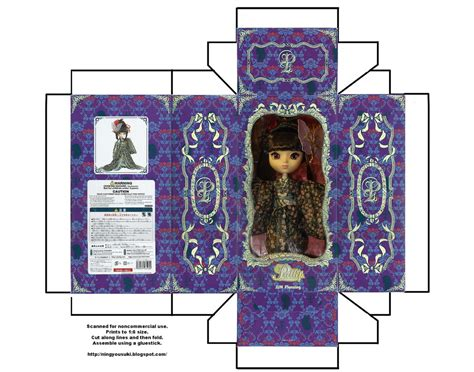 pullip doll house printable 1 6 doll box pullip youtsuzu by snowfox