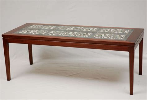 Tile Top Coffee Table Tile Top Coffee Table At 1stdibs