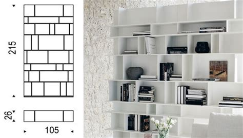 libreria italia cattelan italia library wally 105 bookcase
