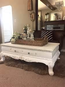 craie blanche peinture table basse mobilier rustique de