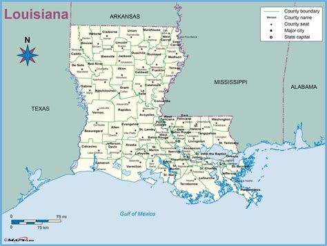 louisiana map directions louisiana county parish outline wall map maps