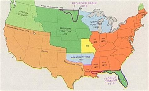 map of the united states in 1820 the expansion of slavery and the missouri compromise map