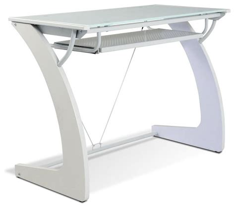 Tribeca Writing Desk With Glass Top And Keyboard Tray Glass Computer Desk With Keyboard Tray