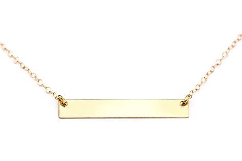 gold bar necklace dainty gold necklace gold by seaandcake