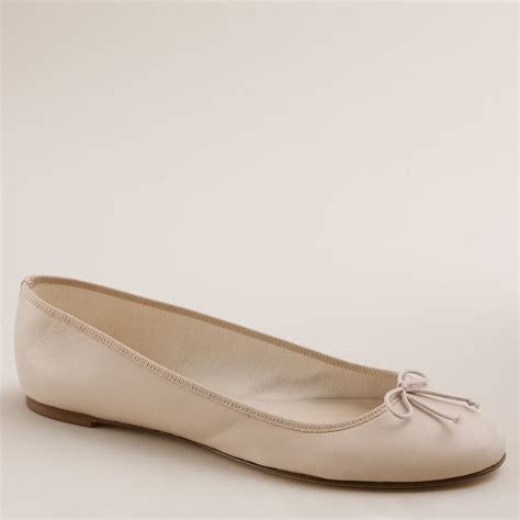 jcrew slippers j crew classic leather ballet flats in beige sand