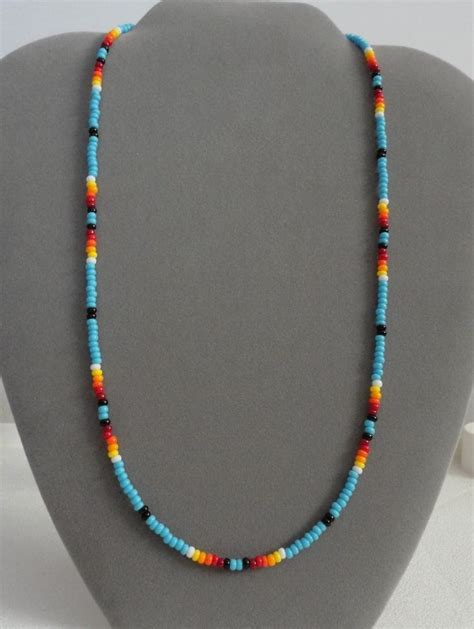 indian beaded necklace blue turquoise beaded necklace american made opt ebay