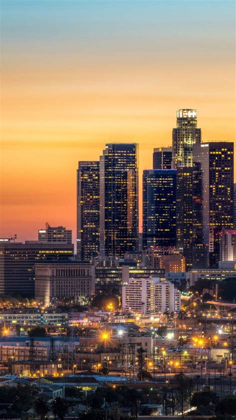La Wallpaper Los Angeles Skyline Iphone 5 Wallpapers Backgrounds 640