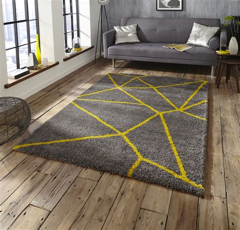 casablanca shaggy rugs grey yellow 5746 rug