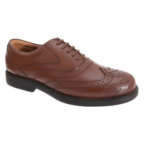 scimitar mens wing cap leather lace up formal smart work