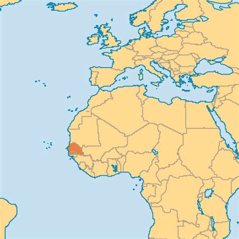 where is senegal on the world map senegal operation world