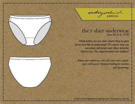 Free Pattern Underwear | sewing underwear the free pattern indigorchid