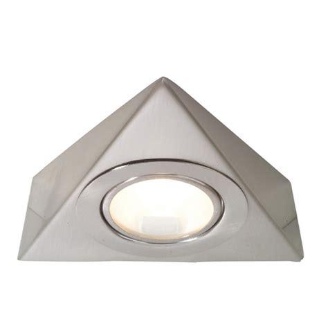 Aurora Lighting 12v G4 Stainless Steel Fixed Triangular Triangular Cabinet Kitchen Lights