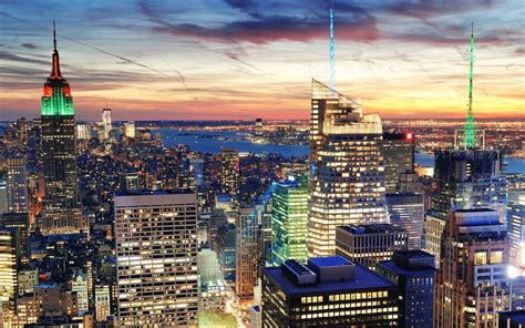 New York by Cityscapes New York Lights Cities