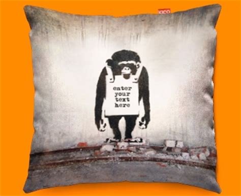 funky couch covers banksy chimp personalised funky sofa cushion 45x45cm