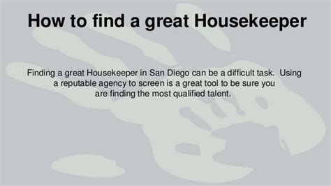 Find Housekeeping by How To Find A Great Housekeeper