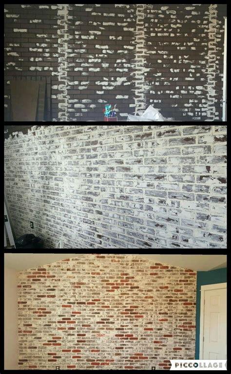 chalk paint diy lowes de 25 bedste id 233 er inden for faux brick walls p 229