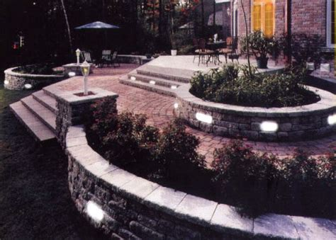 landscape lighting for retaining walls landscape lighting solar led 12 v paver deck dock stair retaining wall retaining