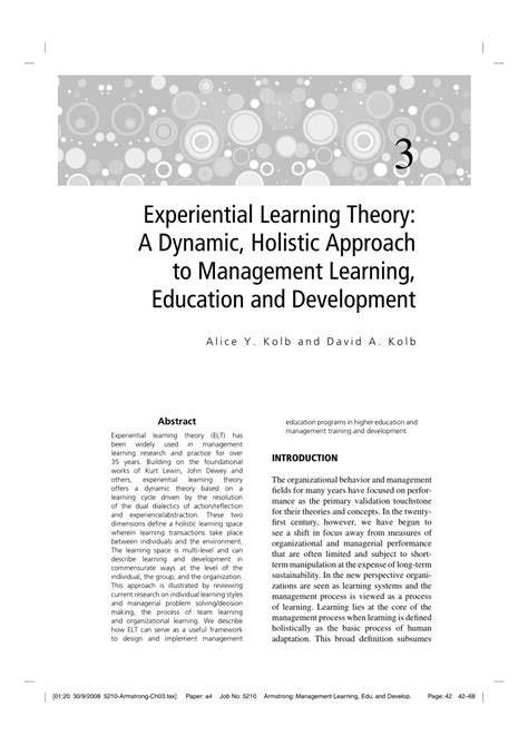 a holistic approach to lessons learned how organizations can benefit from their own knowledge books experiential learning theory a dynamic holistic approach