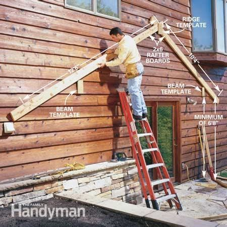 How To Lay Out A Hip Roof How To Build An Outdoor Living Room The Family Handyman