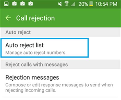 android reject list how to block phone numbers on android phone