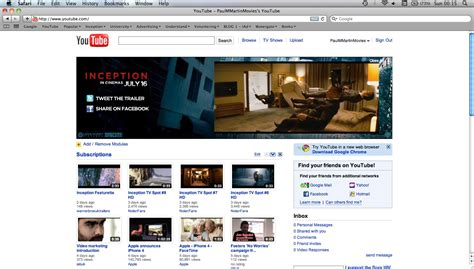 youtube front layout inception youtube paul martin s blog