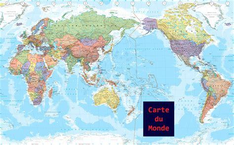 du monde carte du monde en fran 231 ais
