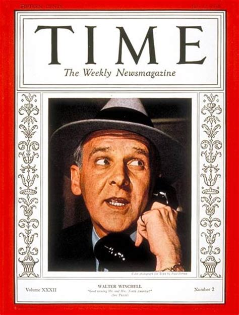 genealogy of the family of winchell in america embracing the etymology and history of the name and the outlines of some collateral genealogies classic reprint books time magazine cover walter winchell july 11 1938