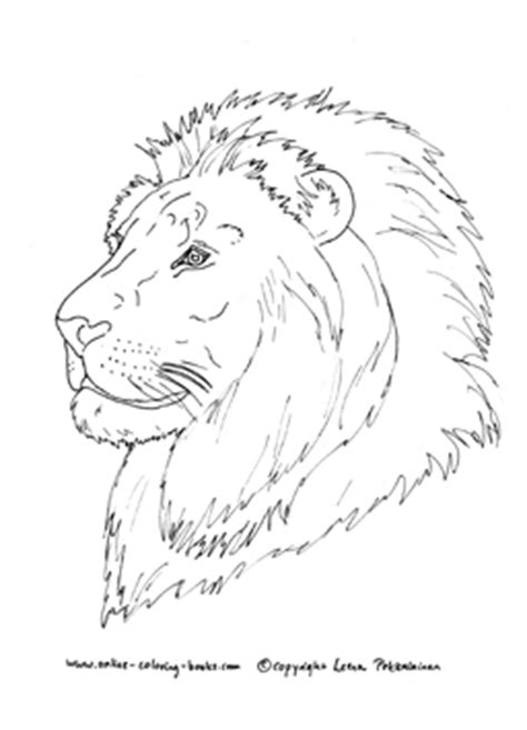 pics for gt coloring pages animals realistic lion