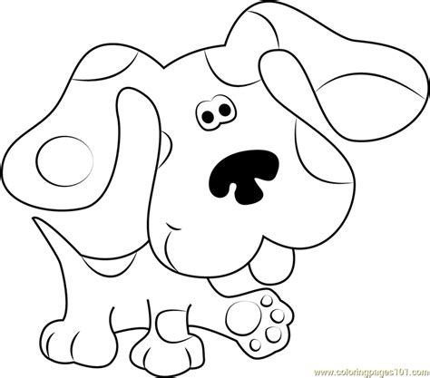 blues clues coloring pages blues clues walking coloring page free blue s clues