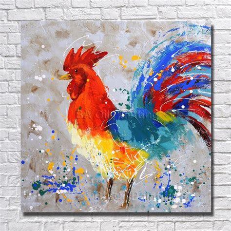 Handgemalte Bilder Auf Leinwand 65 by Kaufen Gro 223 Handel Abstrakte Huhn Malerei Aus China