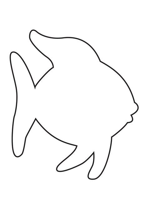 rainbow fish colouring template fish outline colouring pages page 2 crafts fish