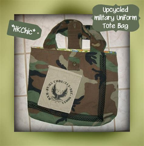 military tote bag pattern upcycled military uniform tote sewing projects