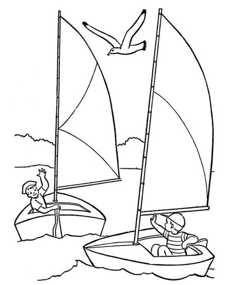sailing boat coloring pages