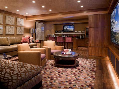 media room lounge 5 amazing basement ideas