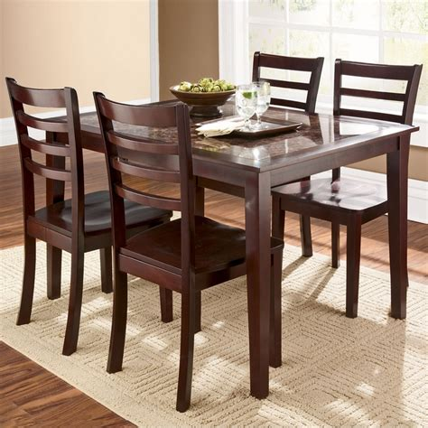 Shopko Kitchen Tables Dining Tables Chairs Cascade Faux Marble 5 Dining Set Shopko Furniture