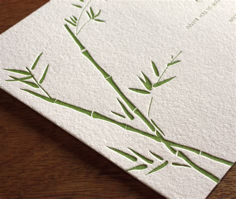 Bamboo Paper Wedding Invitations by Bamboo Paper For Wedding Invitations For Brides That