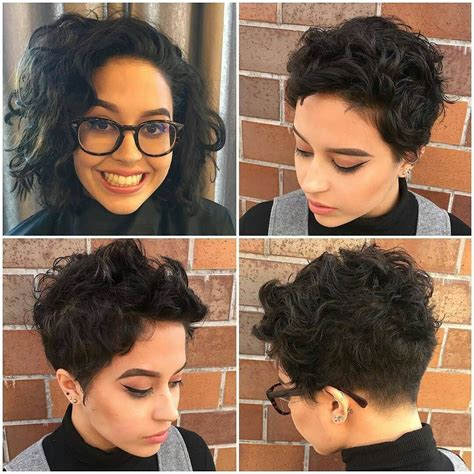 wavy thick hair with a pixie cut pixie cut with undercut for thick curly hair pixie