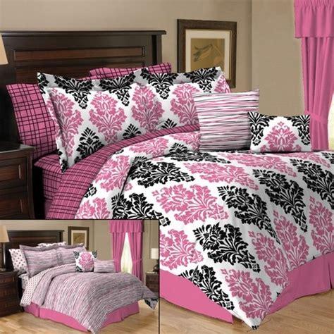 pink damask bedding details about pink black damask 10pc comforter set twin or