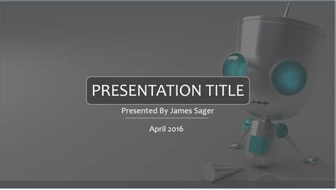 robotics themes for powerpoint free robot powerpoint template 7964 sagefox powerpoint