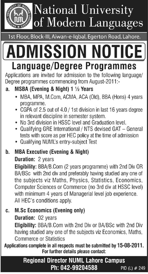 You Can Get With An Mba In Economics by Msba Mba M Sc Economics Amissions Numl Lahore